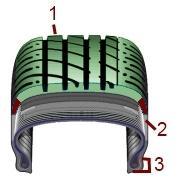 Däck konstruktion - där det går att reparera däcket